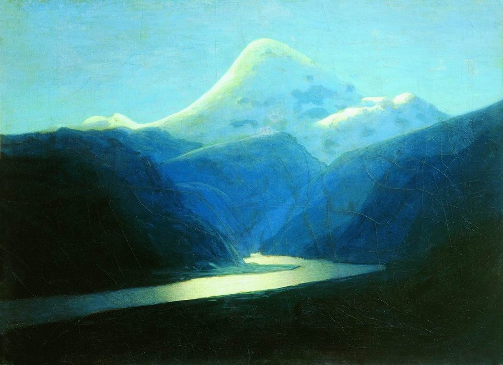 Arkhip Kuindzhi - Elbrus in the evening, oil on canvas (1898-1908)