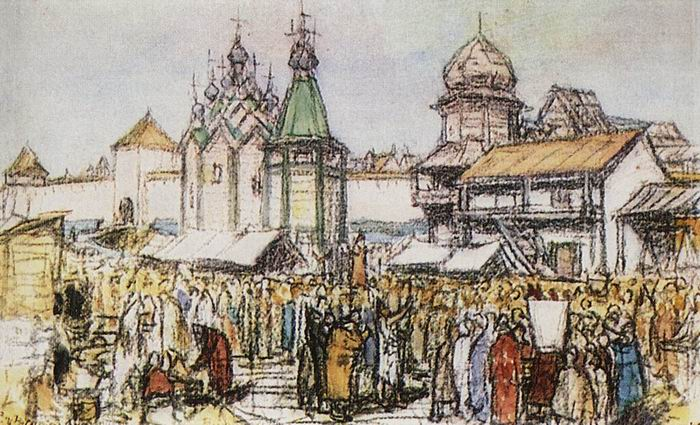 Apollinary Vasnetsov. The market near the Kremlin