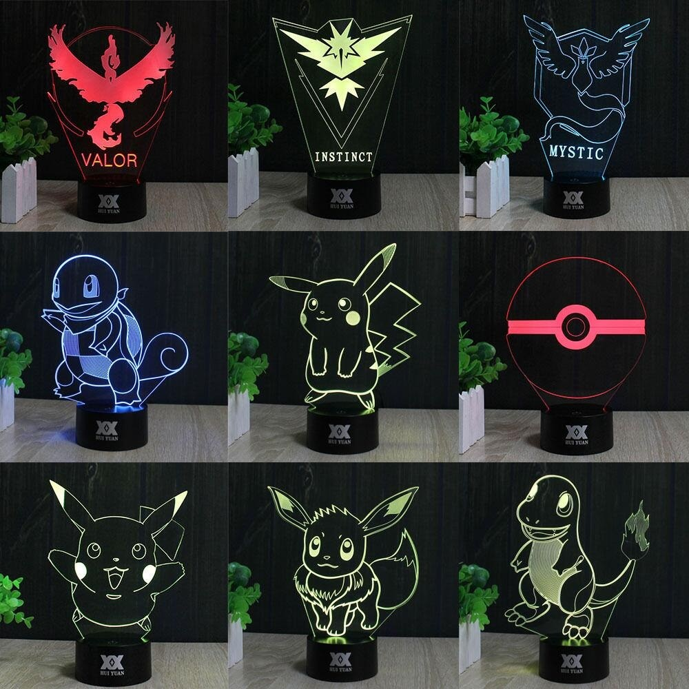Valor Lamparas Led Lampara Led 3d Pokemon