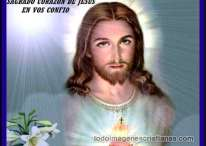 Imágenes del Sagrado Corazón de Jesús en ti confío