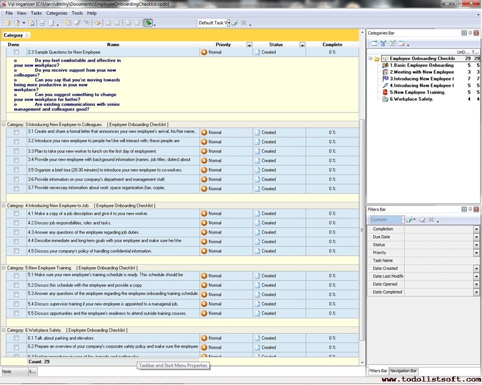 Employee Onboarding Checklist Template | Free Curriculum Vitae ...