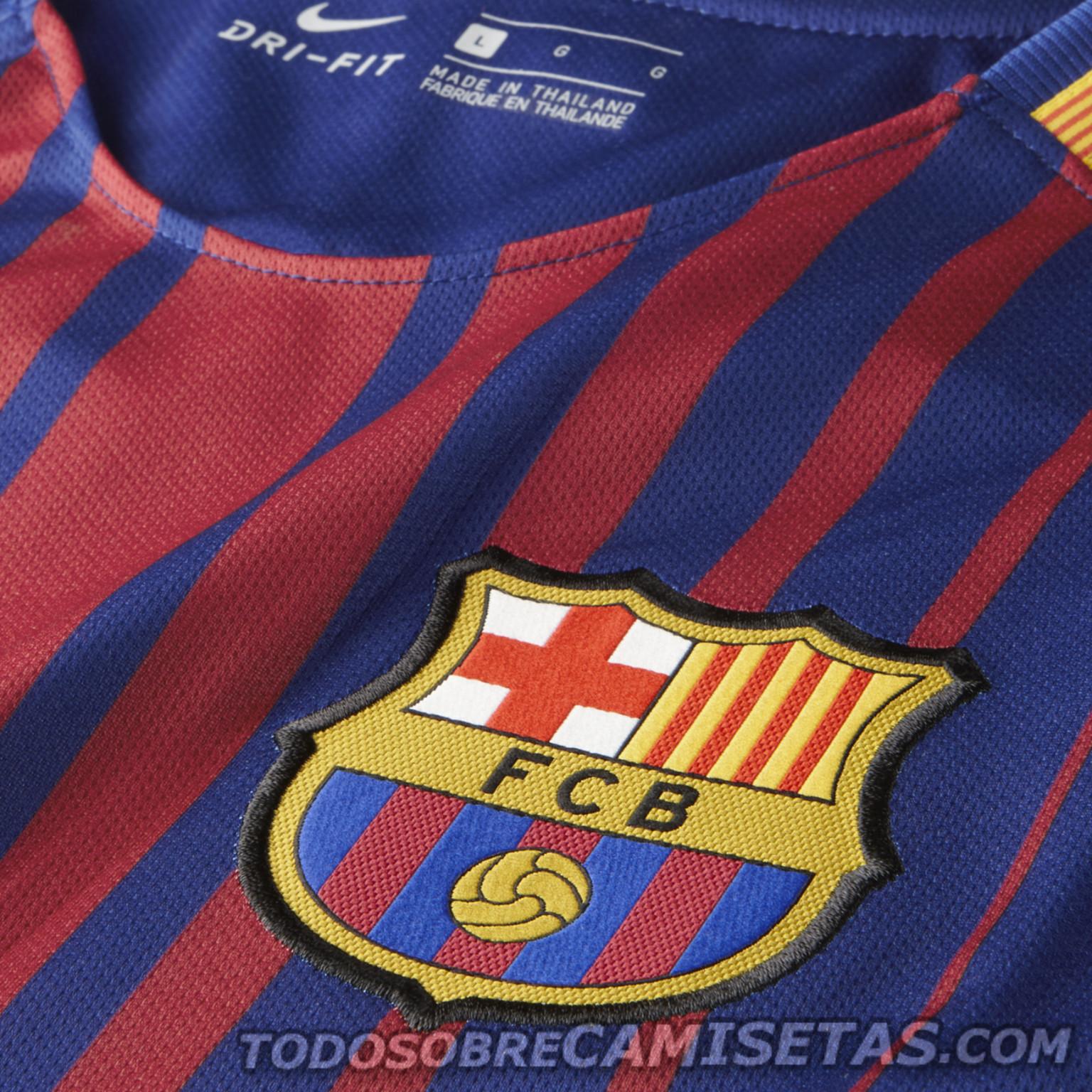 Barcelona Logo 3d Wallpaper Equipaci 243 N Nike De Fc Barcelona 2017 18 Todo Sobre Camisetas