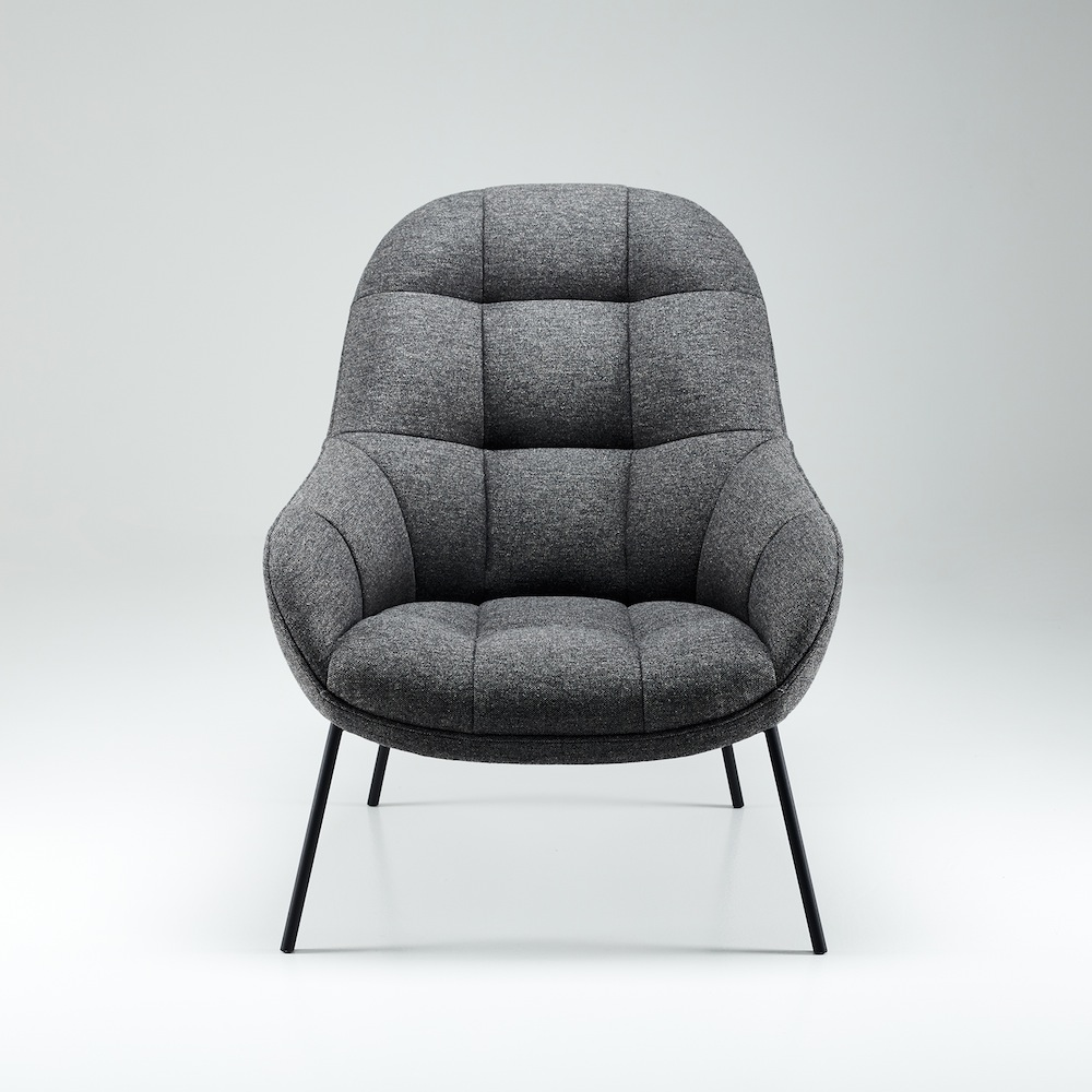 Sessel Skandinavisches Design Won Mango Lounge Chair Graumeliert