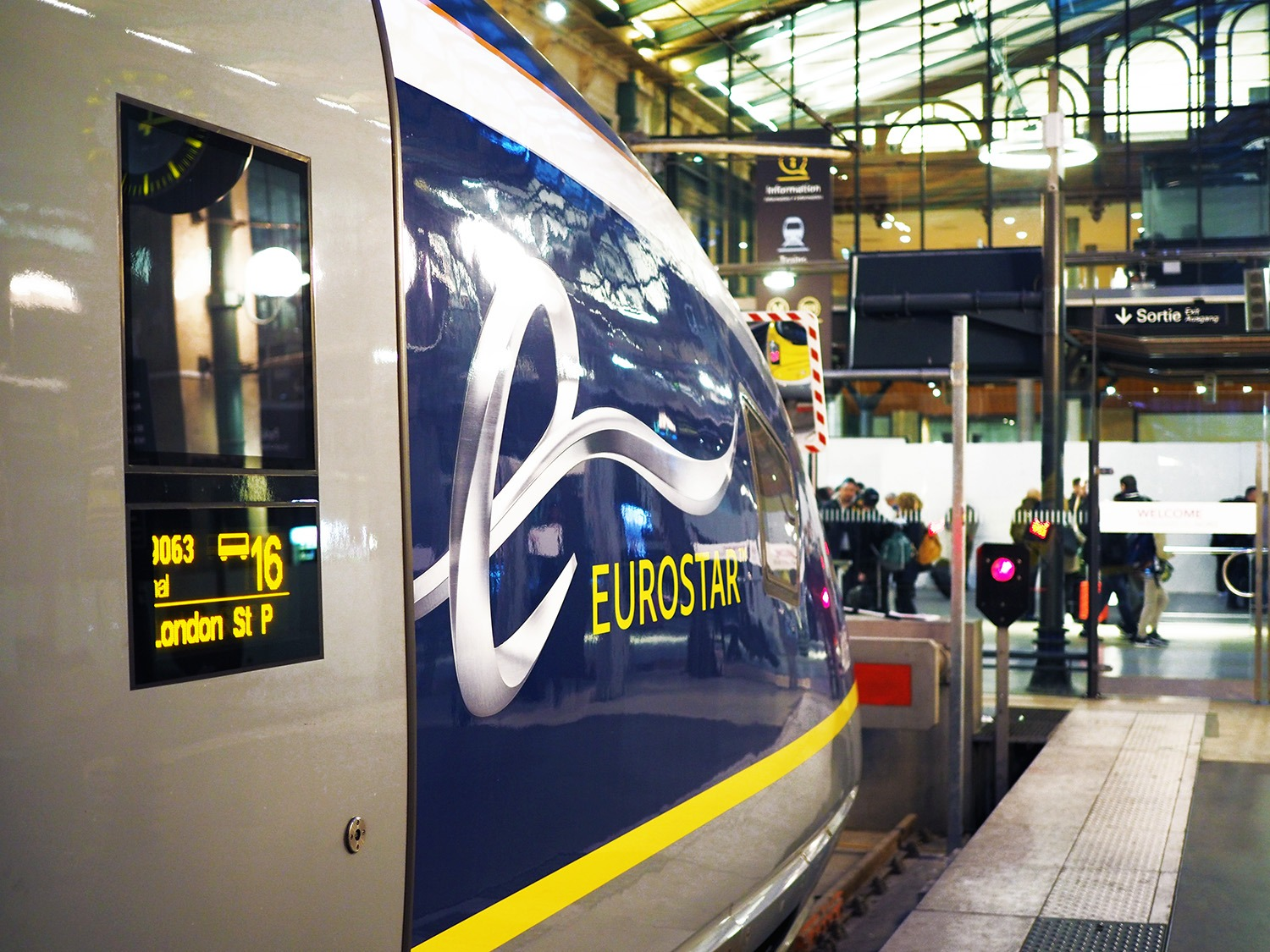 Paris Train Taking The Eurostar From Paris To London To Europe And Beyond