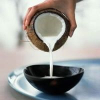 Leite de coco caseiro e farinha de coco