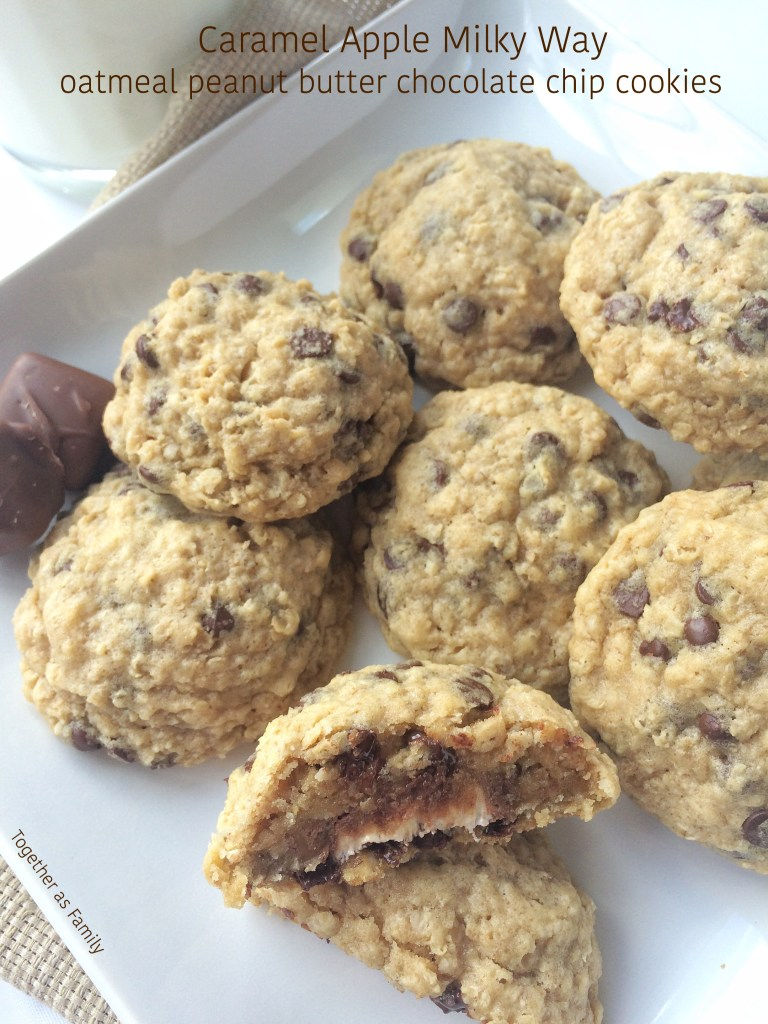 Caramel Apple Milky Way Oatmeal Peanut Butter Chocolate Chip Cookies ...