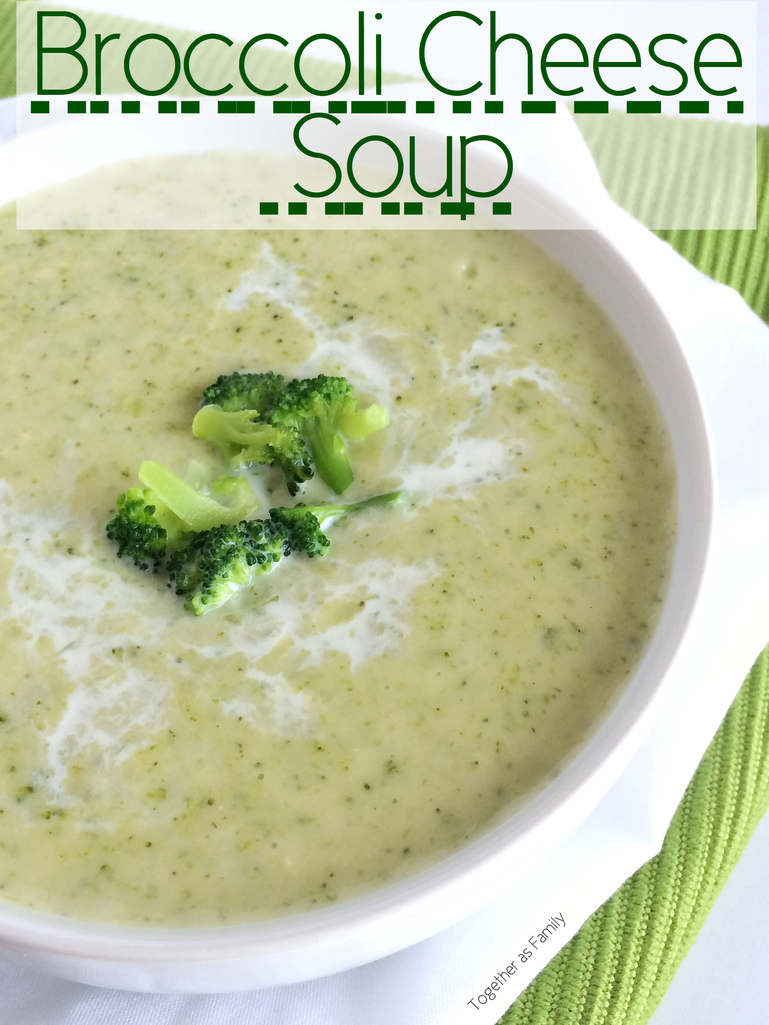 Broccoli Cheese Soup - Together as Family