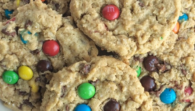 The best monster cookies are loaded with peanut butter, oats, chocolate chips, and mini m&m's. Thick, chewy, soft-baked monster cookies.