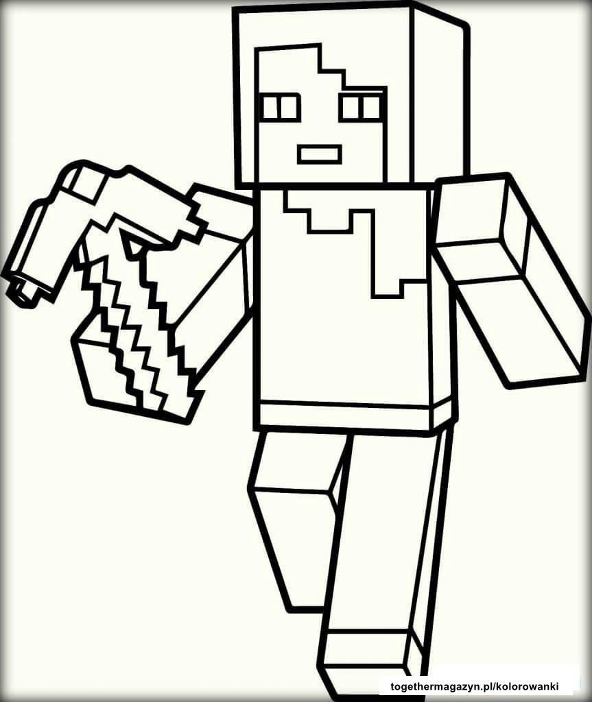 kolorowanka z minecrafta