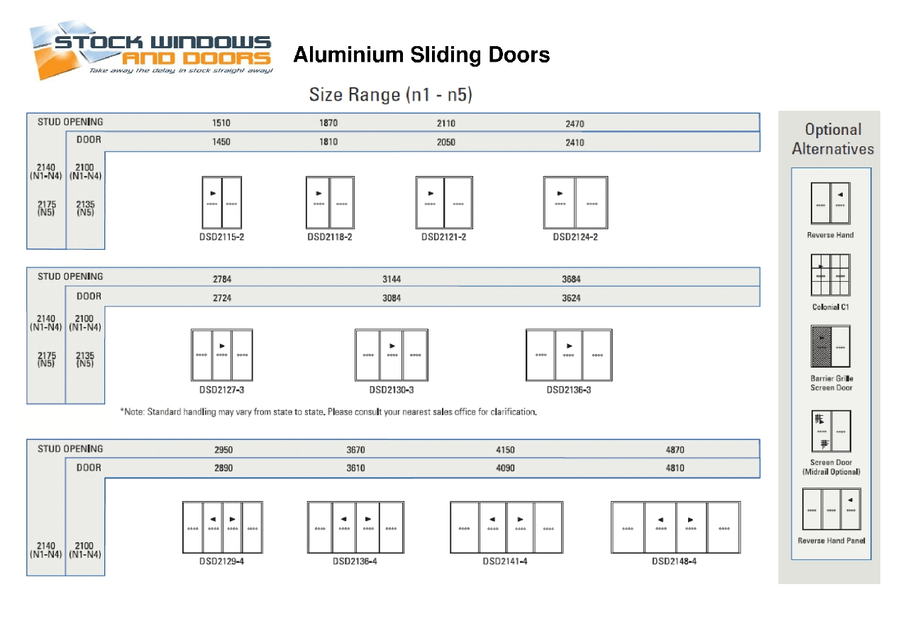 Standard Door Sizes Australia Standard Sliding Glass Door Sizes Image Collections