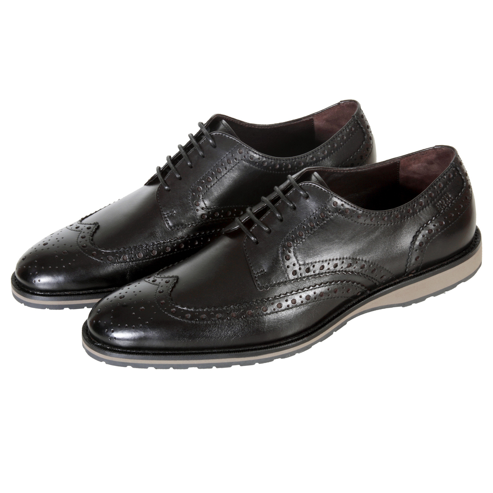 Hugo Boss Sneakers Hugo Boss Shoes Nevors Black Leather Brogue 50247372