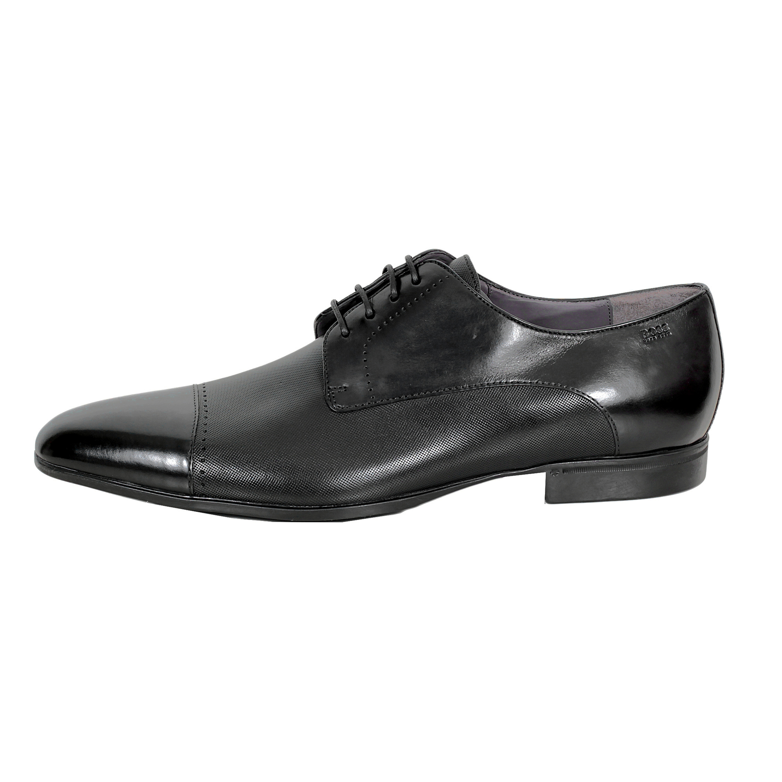 Hugo Boss Sneakers Hugo Boss Shoes Neverf Black Leather Toe Cap Dress Shoes