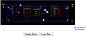 googleのパックマン