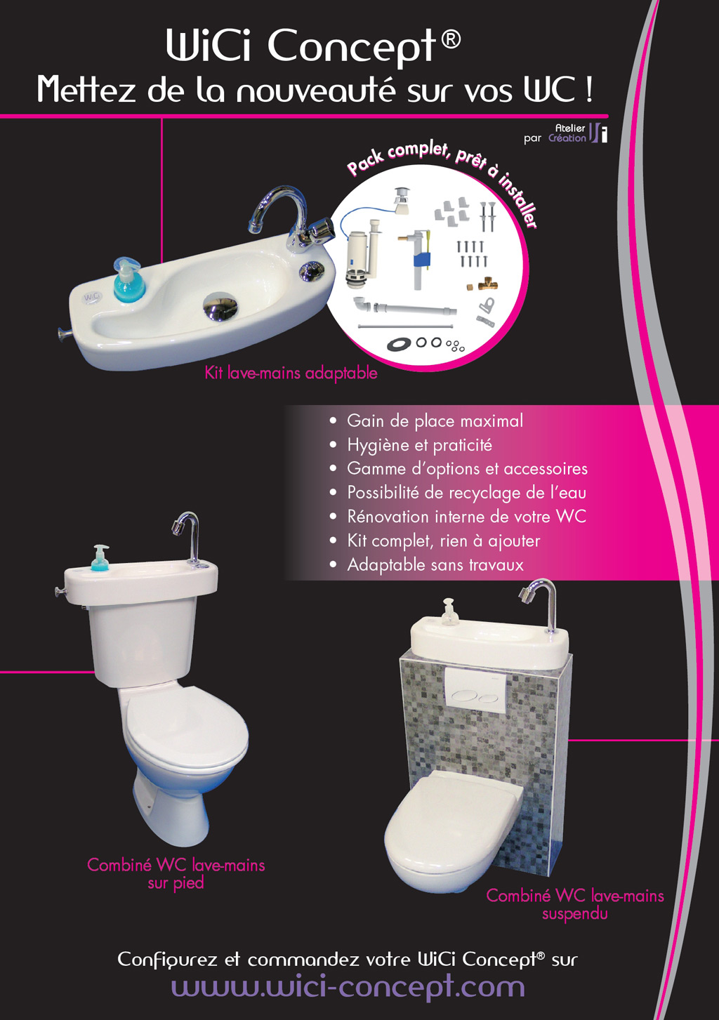 Kit Lave Main Adaptable Wc Wici Concept The Press About The Toilets With Wash Basin