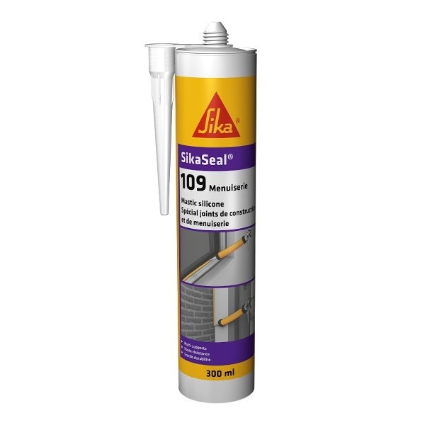 Mastic Silicone Exterieur Mastic Silicone Sikaseal 109 Beige, 300 Ml - Toiture