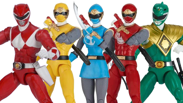 New Power Rangers Ninja Storm & MMPR Legacy Figure Photos