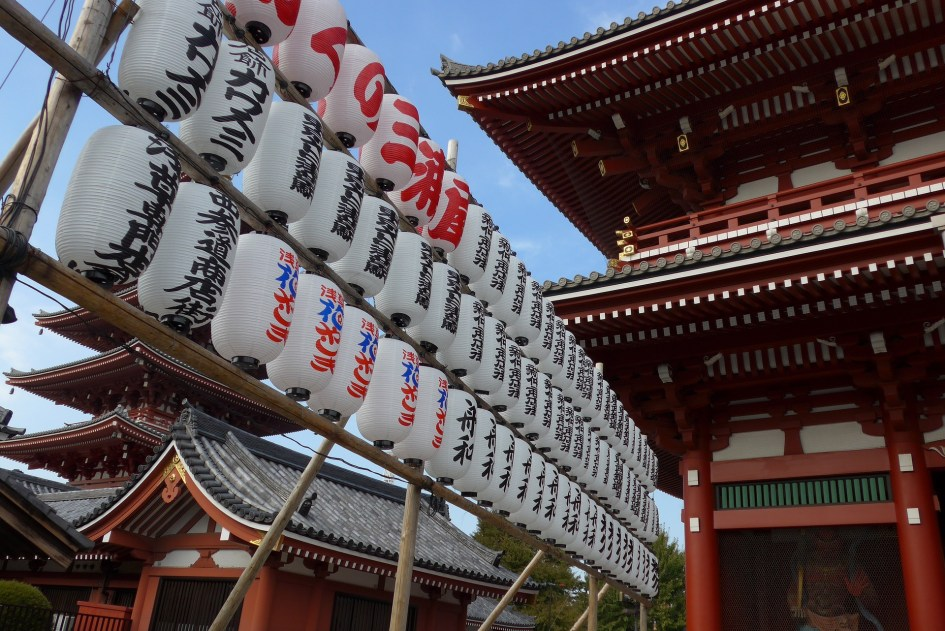 A small part of Sensoji Temple, Tokyo's oldest temple, in Asakusa
