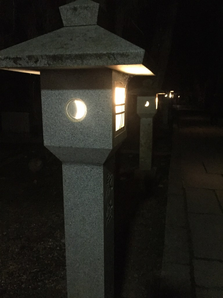 Walking past these amazing stone lanterns all along the path of our night tour of Okunoin added so much to the ambiance