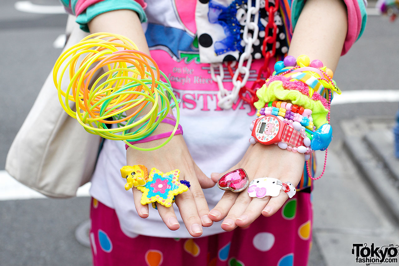 Decora Colorful Decora Fashion Vs Dark Look W Piercings In Harajuku
