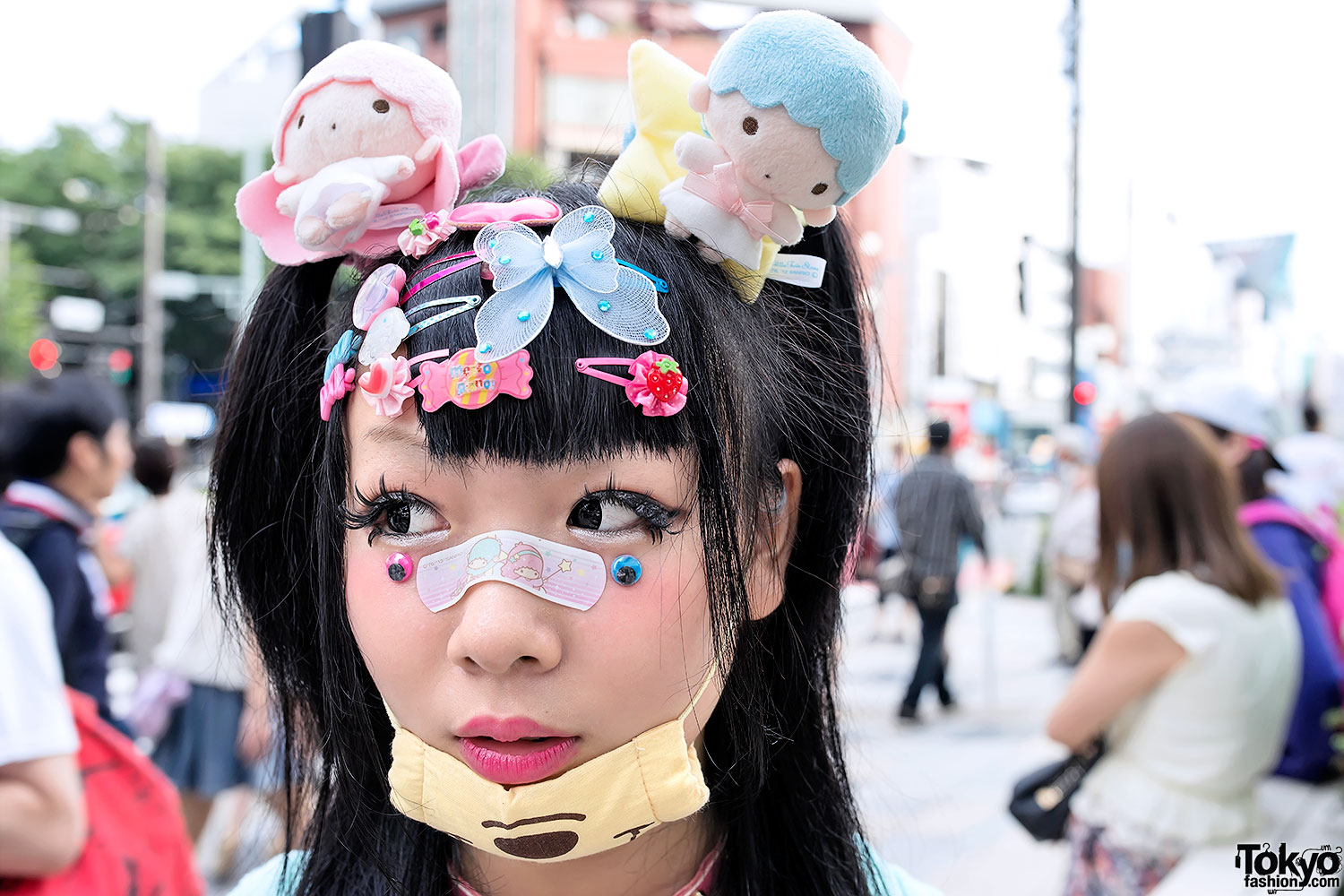 Decora Decora Fashion W Little Twin Stars Doll Head And Eyeballs