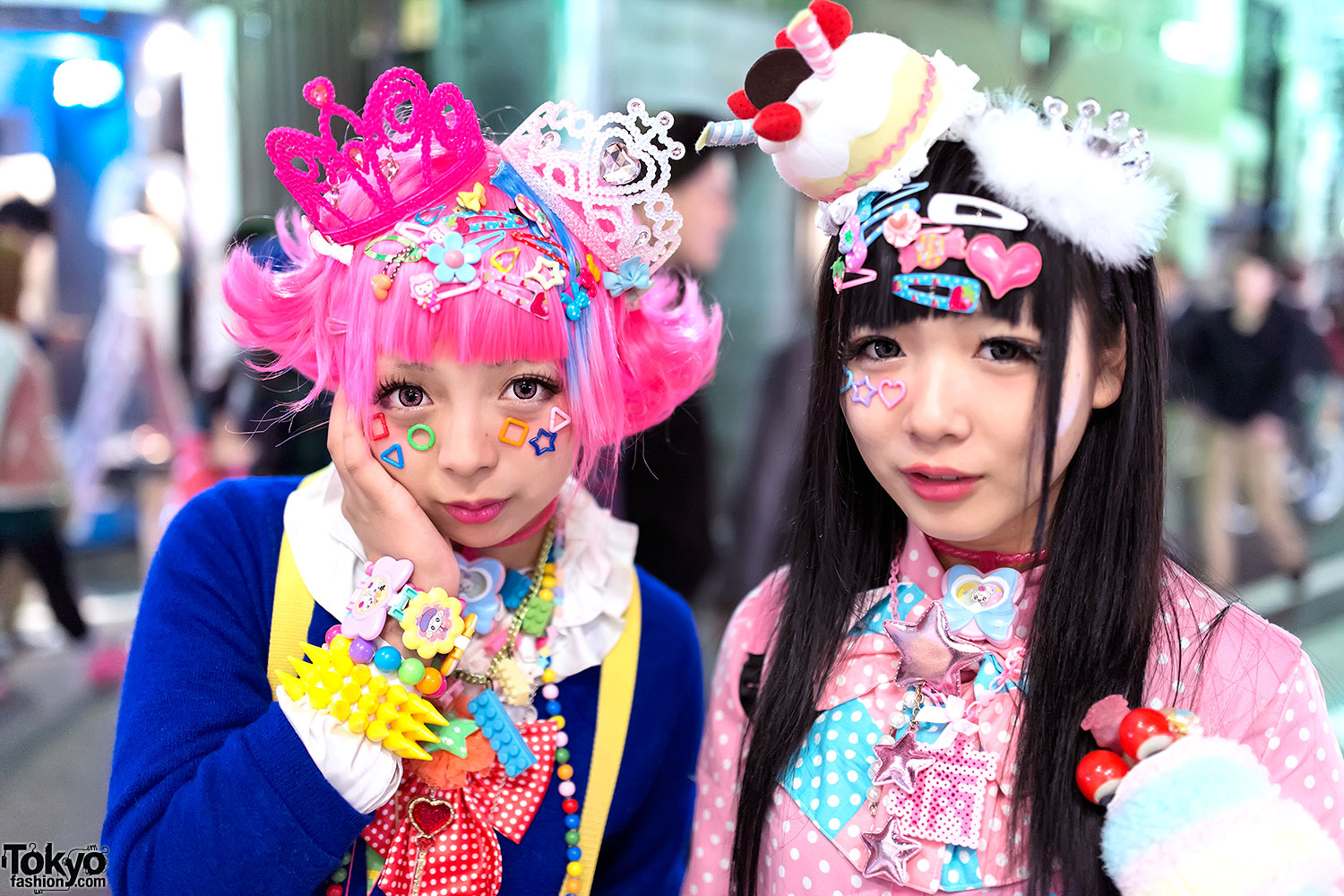 Decora Harajuku Decora Girls W Tiaras Hello Kitty Care Bears