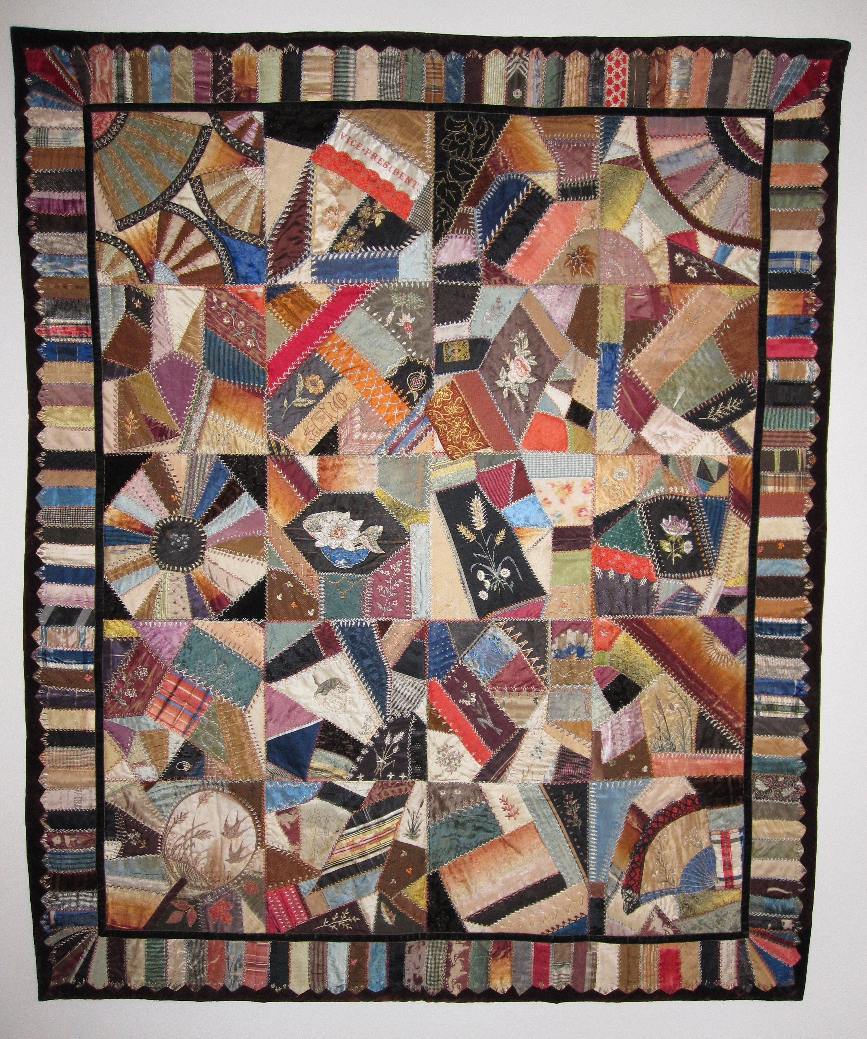 Crazy Quilt Pattern Fabric : Japan-a-mania?Cracked Ice and Crazy Quilts