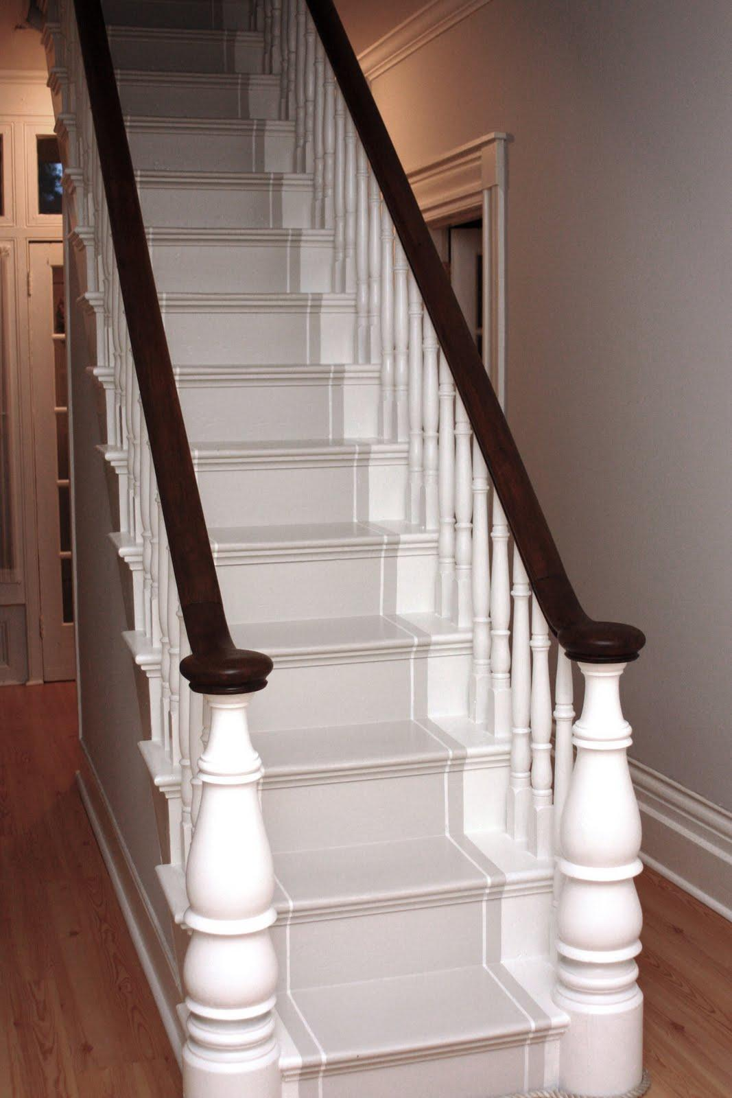 Stair runners for Painted stairs with runner