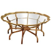 A Clear ChoiceVintage Baker Brass and Glass Coffee Table