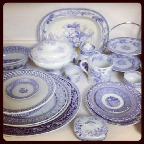lavender transferware details