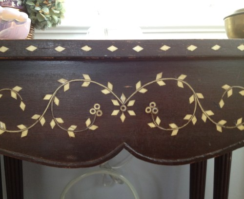 anglo indian inlaid table detail