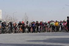 رکابزنی دوچرخه سواران از بهر کاهش آلودهگیها در کابل