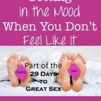 29 Days to Great Sex Day 14: When You Don't Want to Make Love