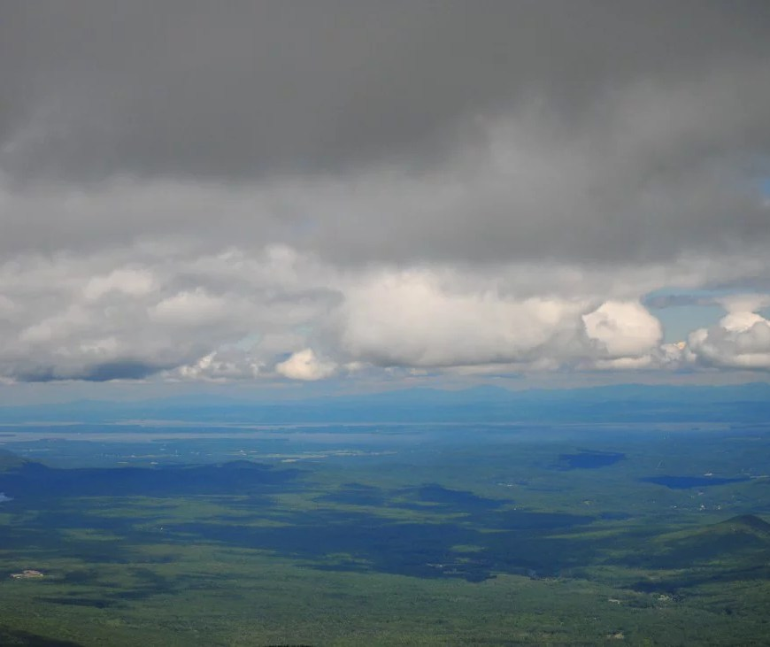 Lake Champlain in the distance. Like looking from above the clouds.