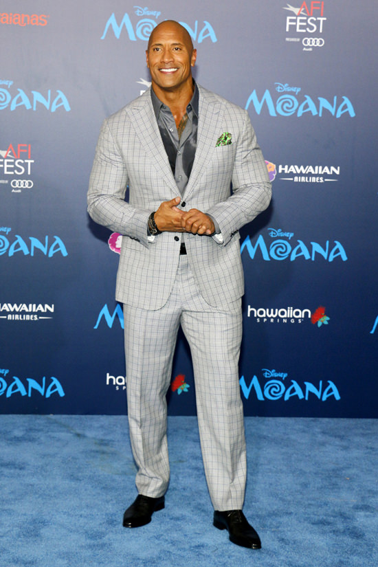 "Tom Tailor Home ""sexiest Man Alive"" Dwayne Johnson Fills Out A Suit At The"