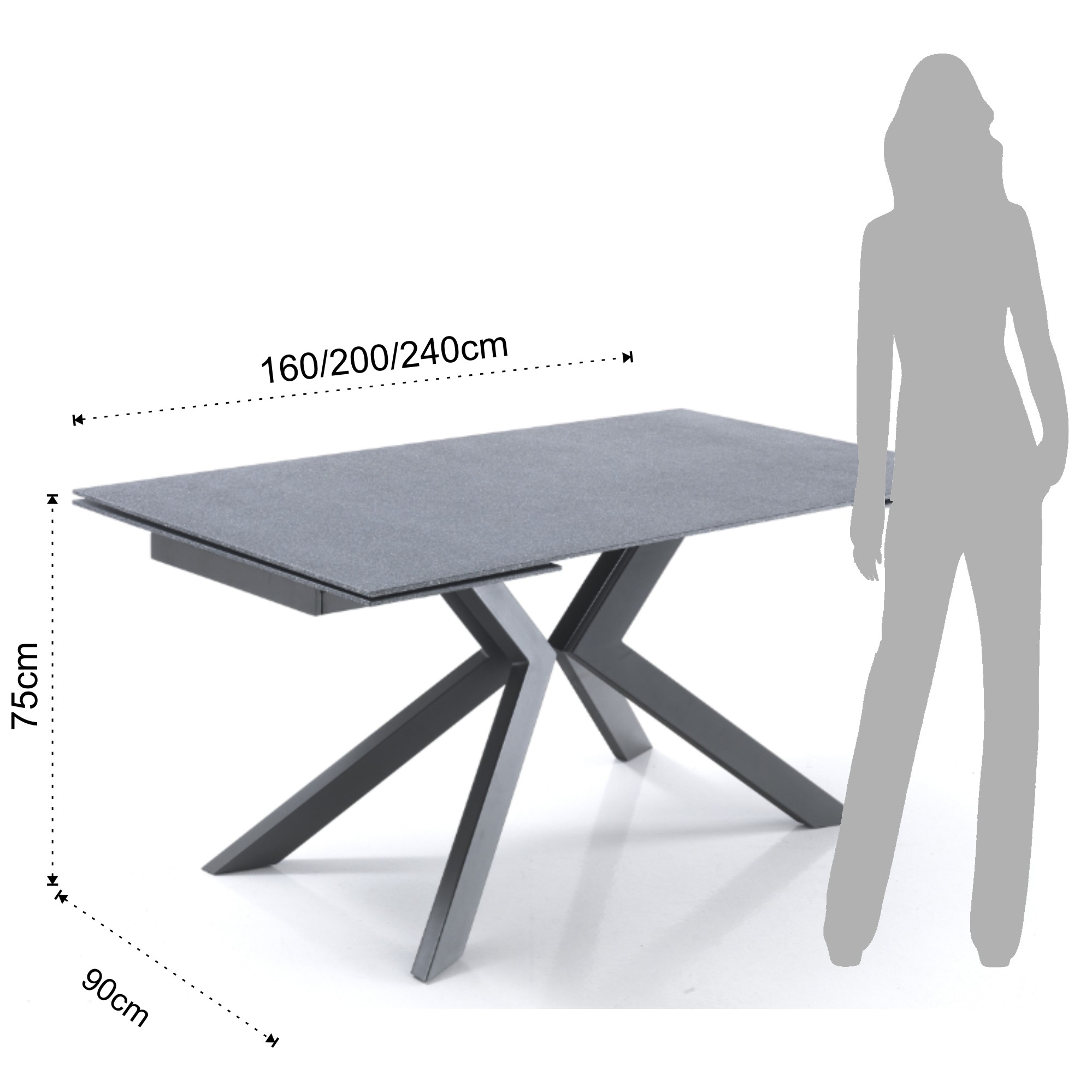 Esstisch Stone Shoes Extendable Table Tips Evolution Stone