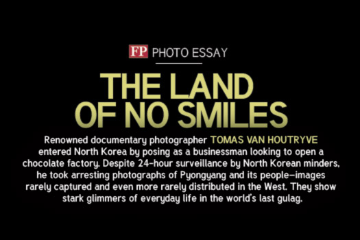 Publication Foreign Policy magazine The Land of No Smiles, Photo