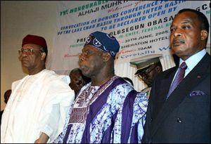 Tandja, Obasanjo, and Sassou-Nguesso in 2005