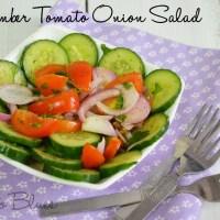 Cucumber Tomato Onion Salad Recipe | Easy Salad Recipes