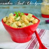 Cucumber Chickpeas Salad Recipe | Easy Salad Recipes