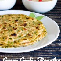 Green Garlic Paratha Recipe