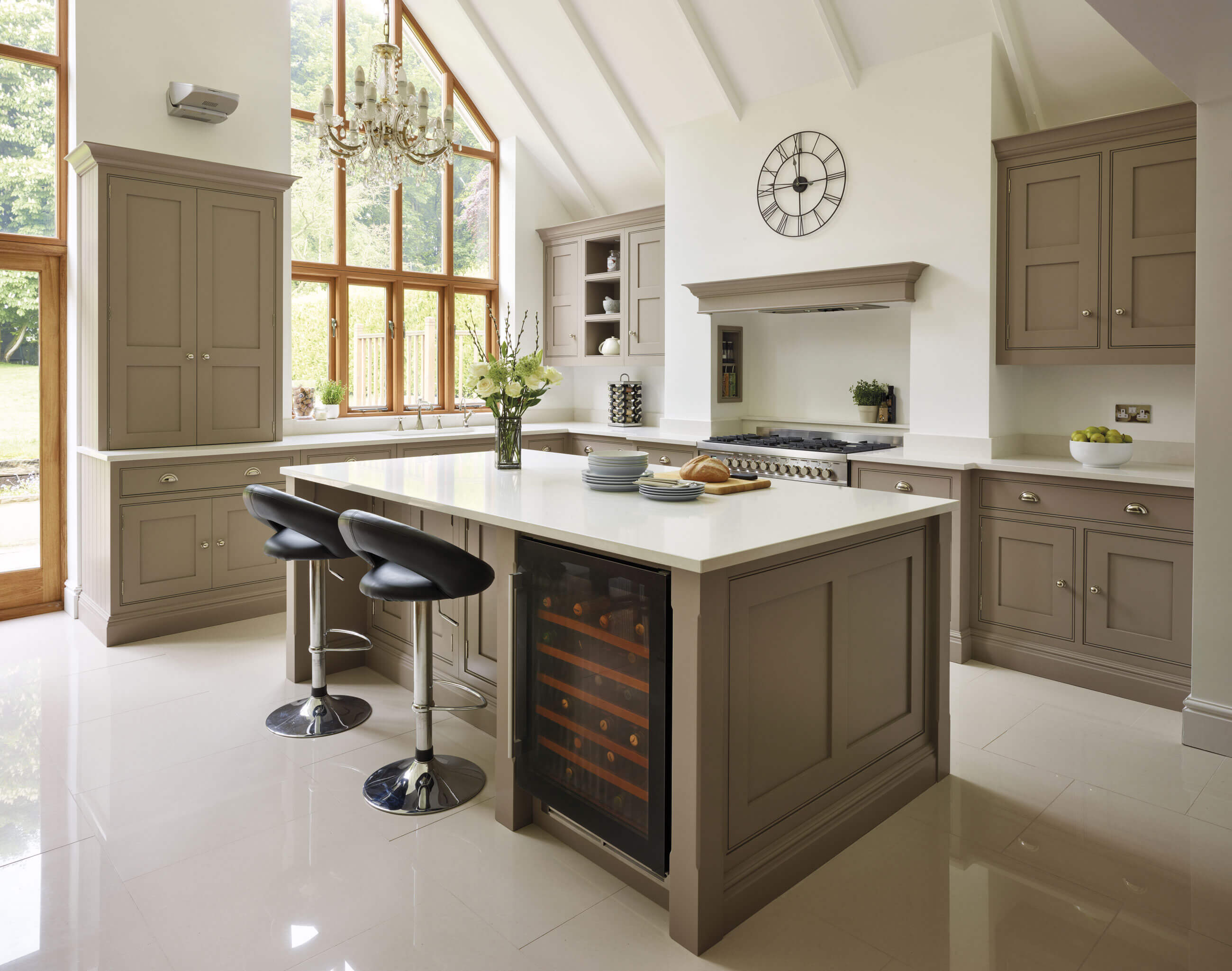 Kitchen Islands With Storage And Seating Classic Shaker Kitchen | Tom Howley