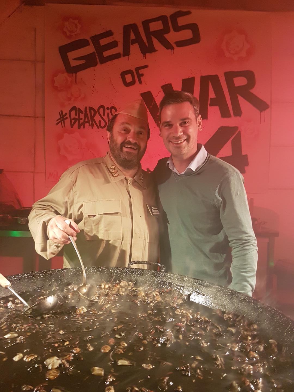 Soir e gears of war 4 bouillie de locustes bistronomique for Cuisinier yves camdeborde