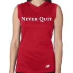 V Neck ladies tech tank RED FRONT