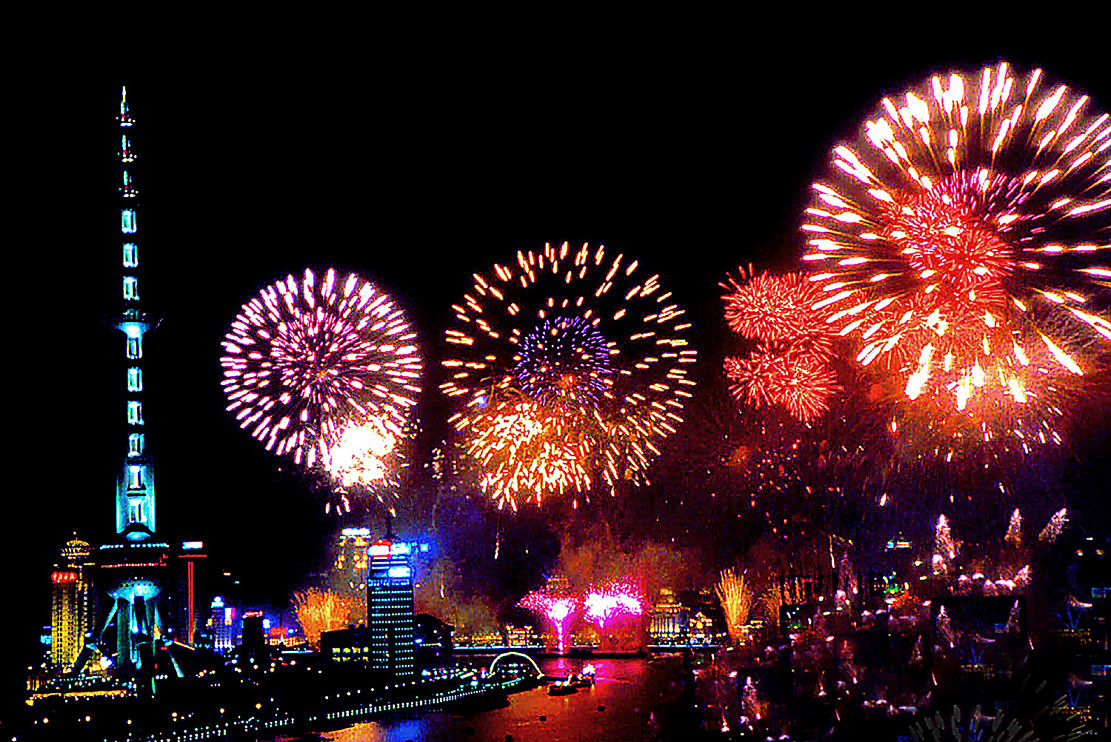 3d Wallpaper House Malaysia Happy New Year Beautiful Fireworks │ 新年快樂煙火秀 Tommy