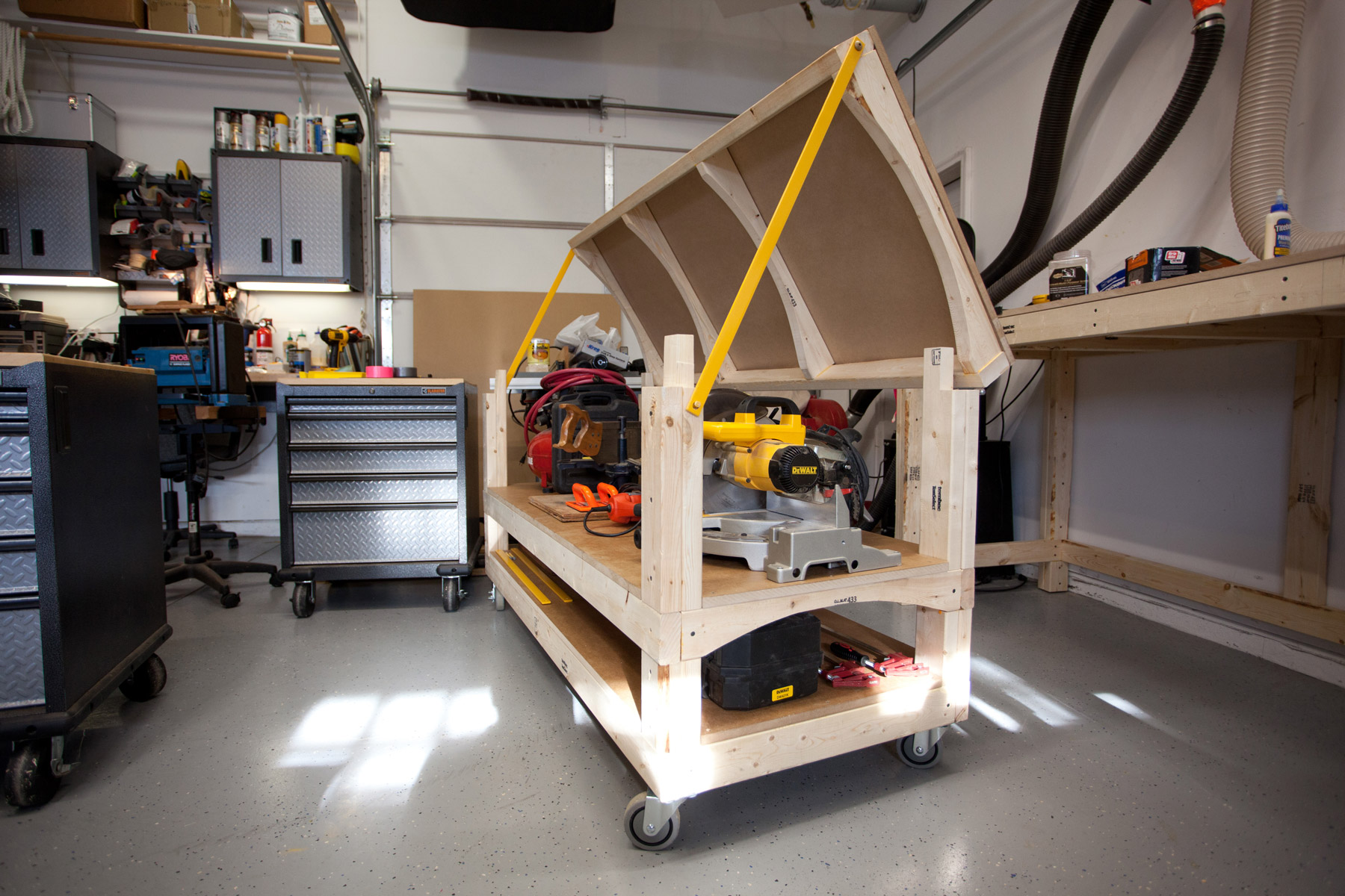 Workbench Plans Tommy39s Rolling Workbench And Miter Saw