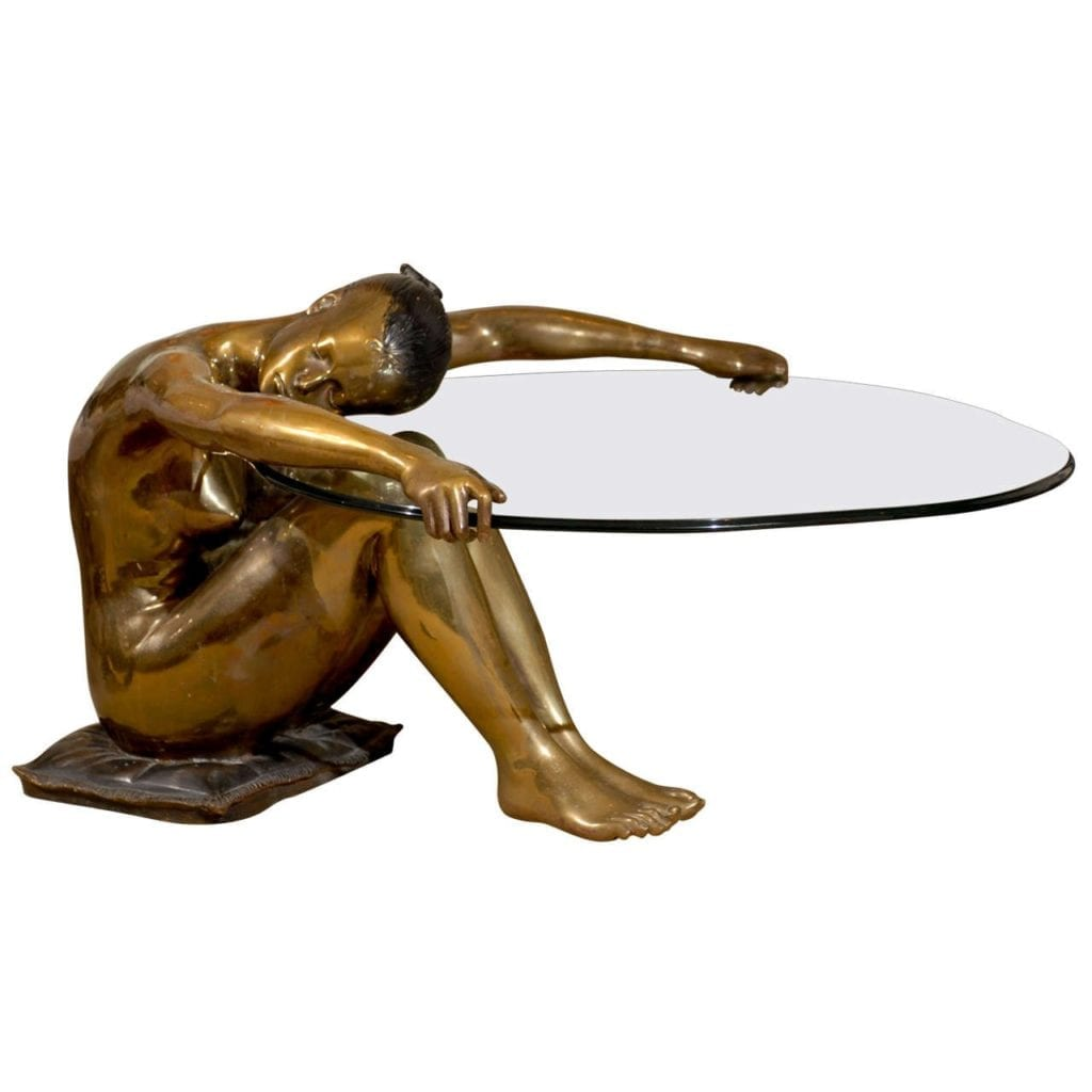 Sculptural Coffee Tables Exceptional Vintage Female Nude Sculpture Coffee Table