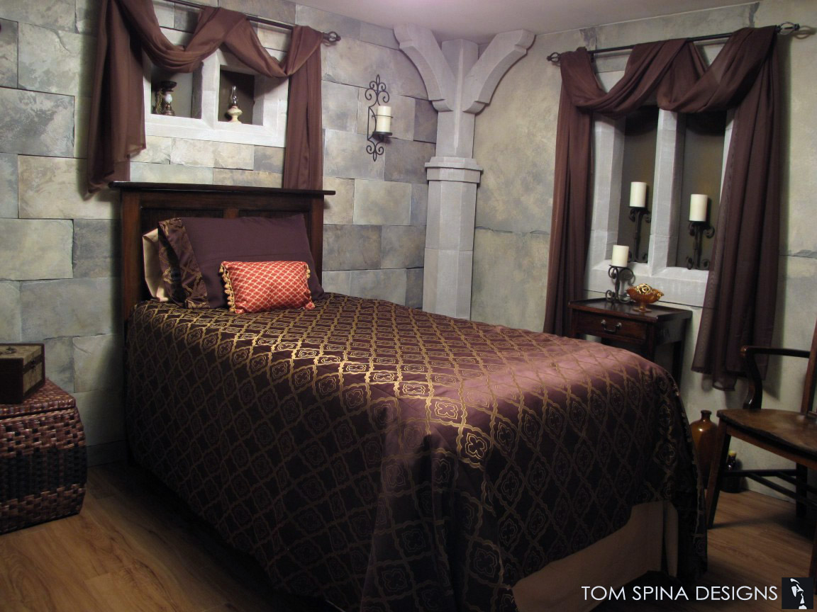 Bedroom Theme Castle Themed Bedroom Foam Sculpted Decor Tom Spina