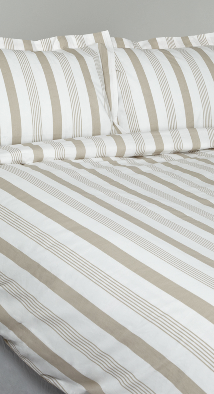 Double Bed Fitted Sheet English Striped 100 Cotton Fitted Sheet