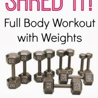 Video Workout: Shred It! Full Body Workout with Weights