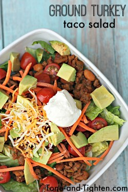 Smart Delicious Meal That My Whole My Picky Will Eat Search A Healthy Our Healthy Ground Turkey Taco Salad Recipe Tone Tighten I Am Always This Is One